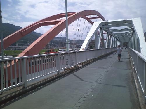 安芸大橋の歩道
